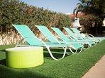 villa sofia ayia napa deck chairs