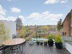 Flat roof terrace