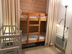 Bunk Room ( new storage  for shoes and boots and new heater in 2018)