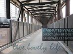 Direct covered link bridge to Bangsar LRT station