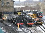 Haworth steam trains which as part of The Keighley & Worth Valley Railway.