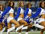 Dallas Cowboys Cheerleaders performing at AT&T Stadium