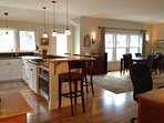 Open kitchen dining concept