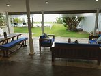 Relax in comfort enjoying the sunsets and the ocean views in any weather with monsoon blinds