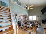 Vaulted ceilings and open design, you won't feel cramped in this luxury condo at the beach!