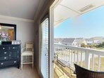 The second master has a private deck with ocean views.