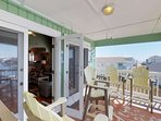The deck has easy access to the main living space