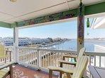 The main deck has ocean views and a bar for evening fun.