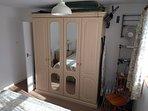 Double bedroom storage. (Please note left half of the wardrobe unit is locked).