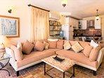 Comfortable sofa with plenty of room