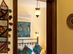 Turkish accents feature amongst the modern decor