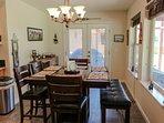 Cozy Mountain Home - Dining Six Backyard View