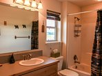 Cozy Mountain Home - Master Bath Shower Tub