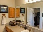 Cozy Mountain Home - Bathroom Shower Tub Cabin Decor