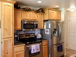 Cozy Mountain Home - Kitchen Updated Stainless Steel