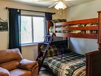 Cozy Mountain Home - Bedroom Full Twin Bed Bunkbed