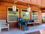Cozy Mountain Home - Backyard Porch Patio Seating Cabin