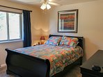 Cozy Mountain Home - Bedroom Queen Bed Tree View