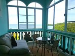 Breath taking view of the Caribbean Sea from our Sunroom