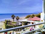 Front line view to the beach at Marbesa and Le Papillon Beach Club and Restaurant