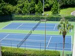 Two lighted tennis courts adjacent to Building 4