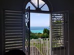 Romeo & Juliet balcony overlooking the Caribbean sea