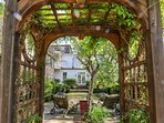 This one-of-a-kind cottage is a hidden gem tucked away within the city's Garden District.