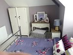 Main Bedroom , a spacious , light double bedroom , with a beautiful comfy bed, dressing table