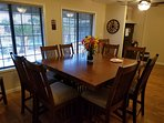 Large dining, game table