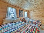 With 2 full beds, this room sleeps 4 guests.