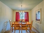 Savor meals at the 6-person dining table.