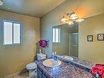 Enjoy the privacy of this en-suite bathroom.