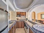 Keep your group replenished with home-cooked meals prepared in this fully equipped kitchen.
