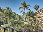 Start each day with awe-inspiring views of the lush, tropical garden from the private patio.