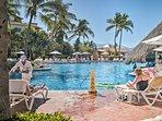 Laze around this pristine resort pool.