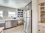 Cooking is a joy in this luxurious kitchen.