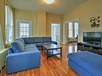 With 4 bedrooms and 2 bathrooms, this historic home is great for 8 travelers.