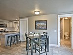 Entertain guests while they sit at the dining table or breakfast bar!