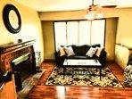Living room area upstairs