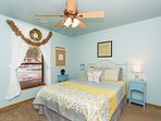 You'll find another queen bed in the second spacious bedroom.