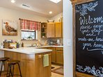 Family-favorite recipes are ready to be prepared in the fully equipped kitchen.