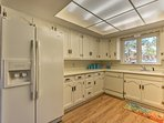 This fully equipped kitchen has everything needed to prepare meals for the crew.