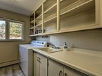 Wash your clothes with the in-home laundry room.