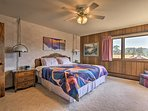 You'll feel like royalty in the plush king-sized bed in the master bedroom.