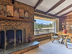 Watch the sunset with a hot cup of tea in hand by the brick-encased fireplace.