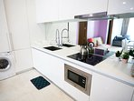 Kitchen with fully equipped kitchenette