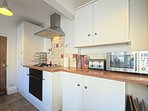 The kitchen has top of the range appliances, family size dishwasher, fridge/freezer, washer/dryer