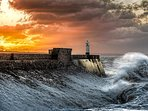 Porthcawl's famous  Lighthouse , Porthcawl is truly beautiful whatever the season or weather