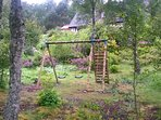 Some fresh air for the kids with a swing and a climb!