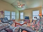 The interior is newly updated and provides all the comforts of home.